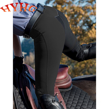 Legging Pants Rider-Trouser Riding Breeches Horse HYHG Chaps Tight Pencil Capris Knee-Patch