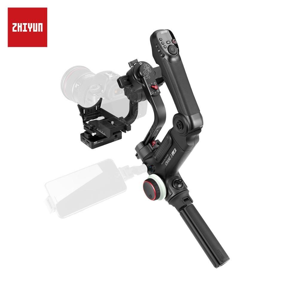 ZHIYUN grue officielle 3 laboratoire 3 axes cardan sans fil 1080P Image contrôle de Transmission DSLR caméra stabilisateur de poche VS 2/Plus