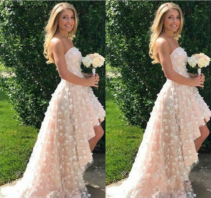 2019 Blush Pink Wedding Dress Spring Summer Beach Garden Country Formal Bridal Party Gown Plus Size