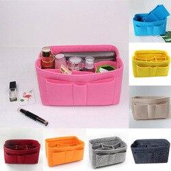 1Pc filcowa tkanina wielofunkcyjna kosmetyczka pokrowiec pojemnik na kosmetyki torebka wstaw torby torebka Organizer do domu