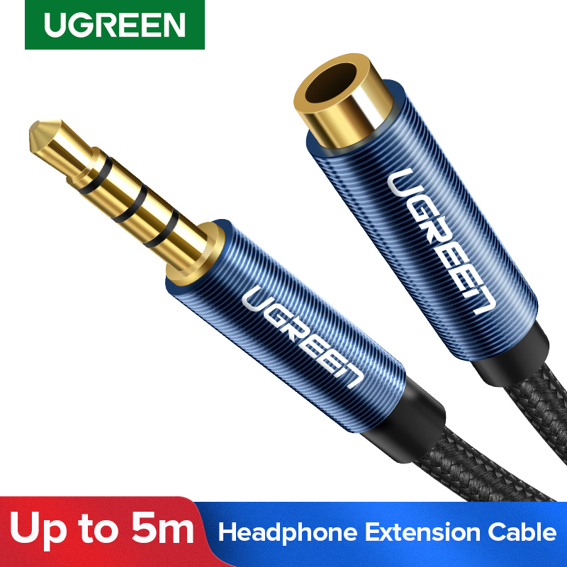 Ugreen Jack 3.5 mm Audio Extension Cable for Huawei P20 lite Stereo 3.5mm Jack Aux Cable for Headphones Xiaomi Redmi 5 plus PC image