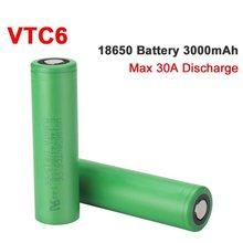 VTC6 18650 3000mAh bateria 3.7V 30A wysokie rozładowanie 18650 akumulatory do US18650VTC6 latarka narzędzia bateria