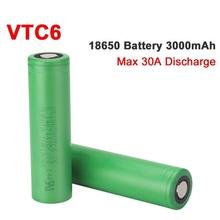 VTC6 18650 3000mAh bateria 3 7V 30A wysokie rozładowanie 18650 akumulatory do US18650VTC6 latarka narzędzia bateria tanie tanio Blmpow VTC6 3000mAh battery Li-ion 3000 mah CN (pochodzenie) Tylko baterie Pakiet 1 1-10 VTC6 3000mAh batteries 2800-3000 mAh