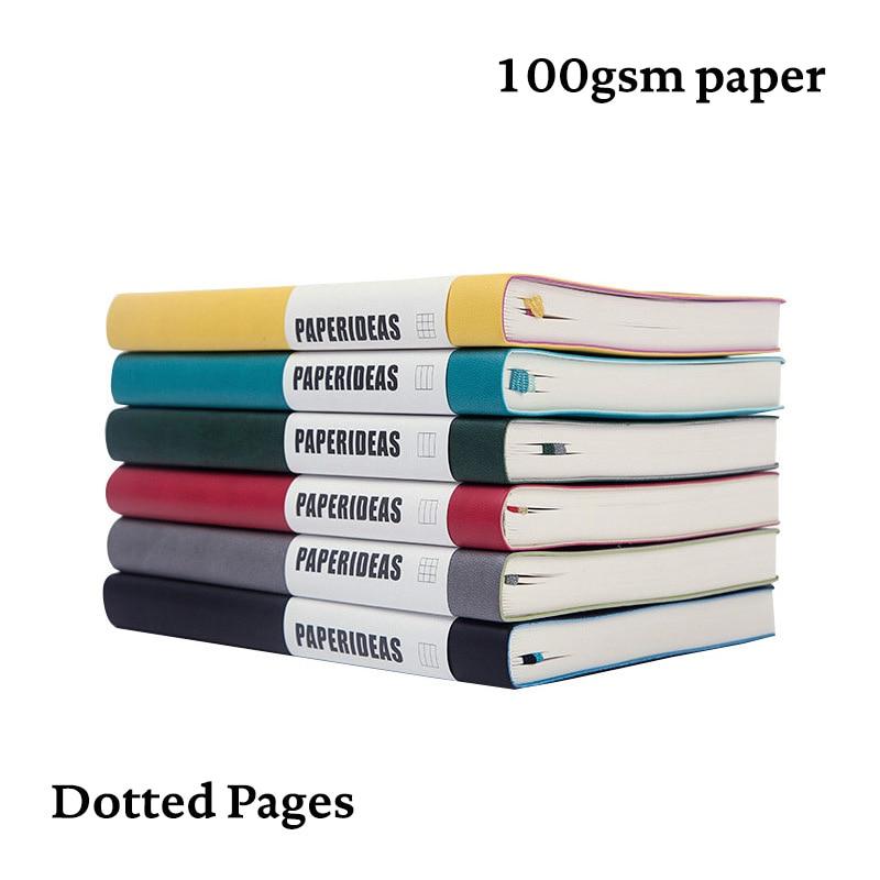 Bala pontilhada caderno a5 capa macia dot grid journal bujo planejador de viagem diário