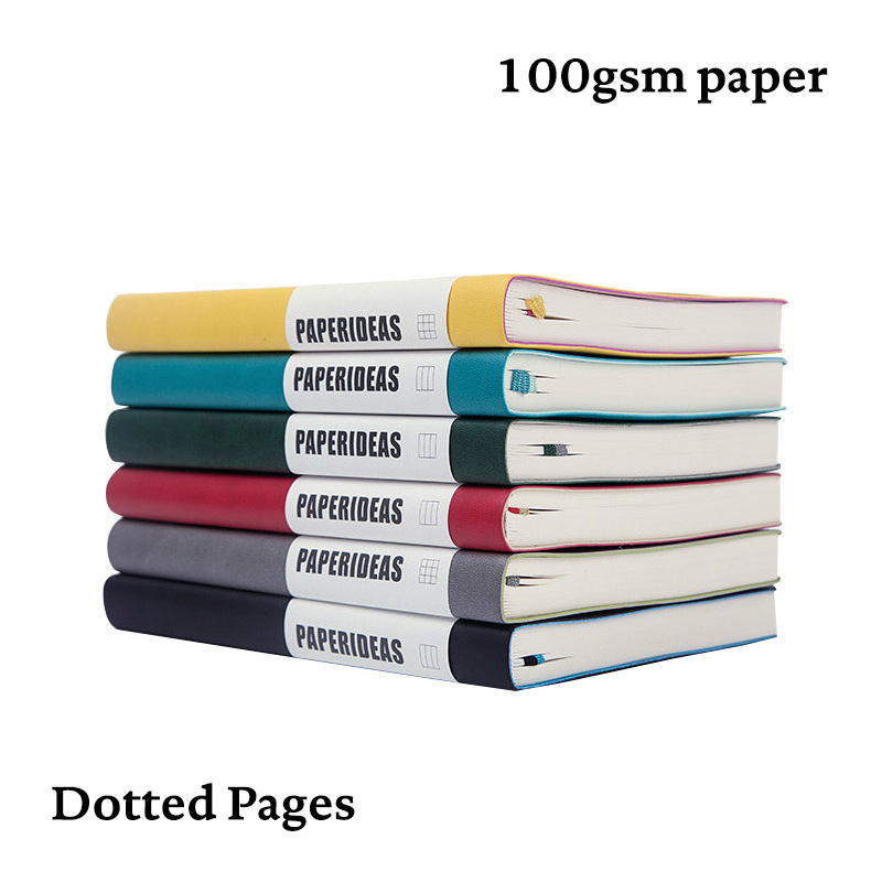 Dotted Bullet Notebook A5 Soft Cover Dot Grid JournalBujoTravel Planner Diary