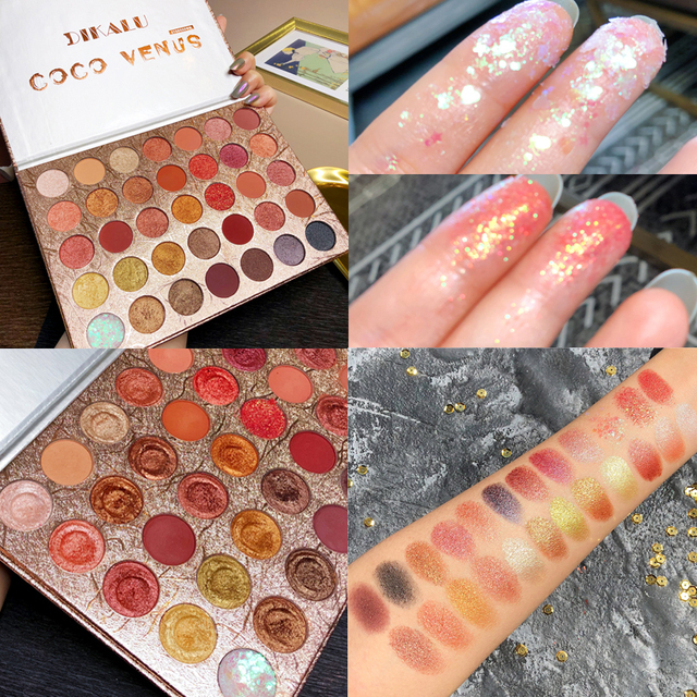 Brand Cosmetics 35 Color Shimmer Matte Eye Shadow Palette Glitter Highlight Metallic Eyeshadow Power Pigmented Waterproof Makeup