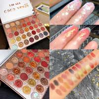Brand Cosmetics 35 Color Shimmer Matte Eye Shadow Palette Glitter Highlight Metallic Eyeshadow Power Pigmented Waterproof Makeup