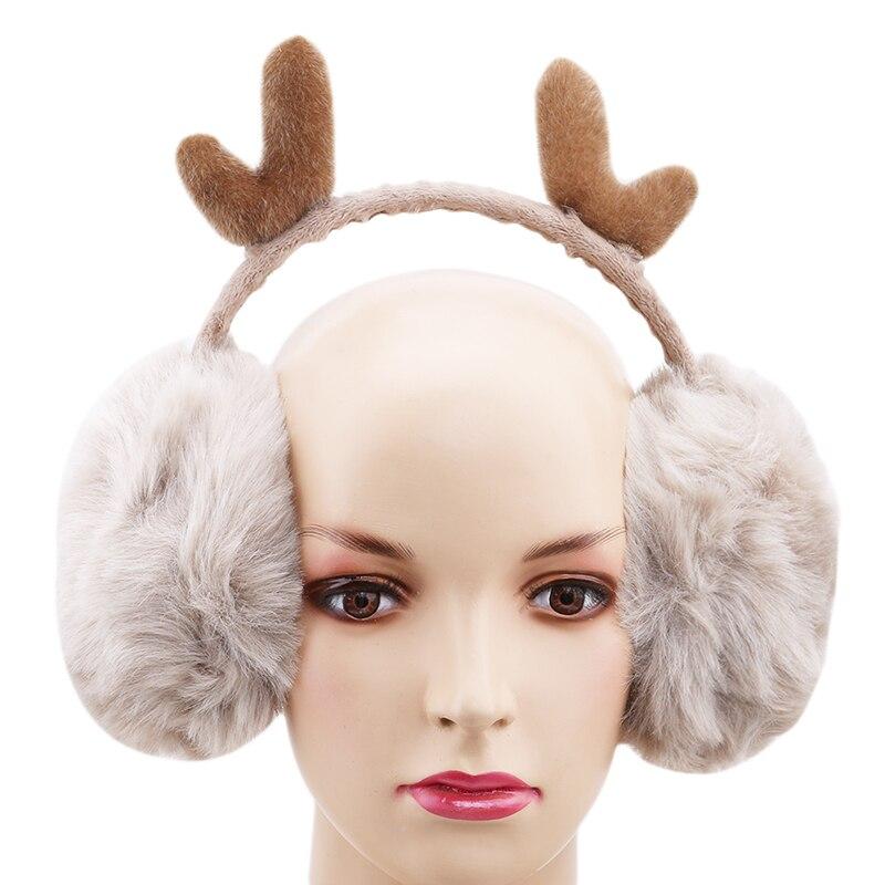 Женские теплые наушники, зимние наушники, новинка, милые рога, теплые наушники, подарки, закрывающие уши