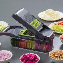 Plantaardige Chopper Mandoline Slicer Met Grote Container Spiralizer Groente Slicer Dicer Aardappel Wortel Rasp Keuken Accessoires