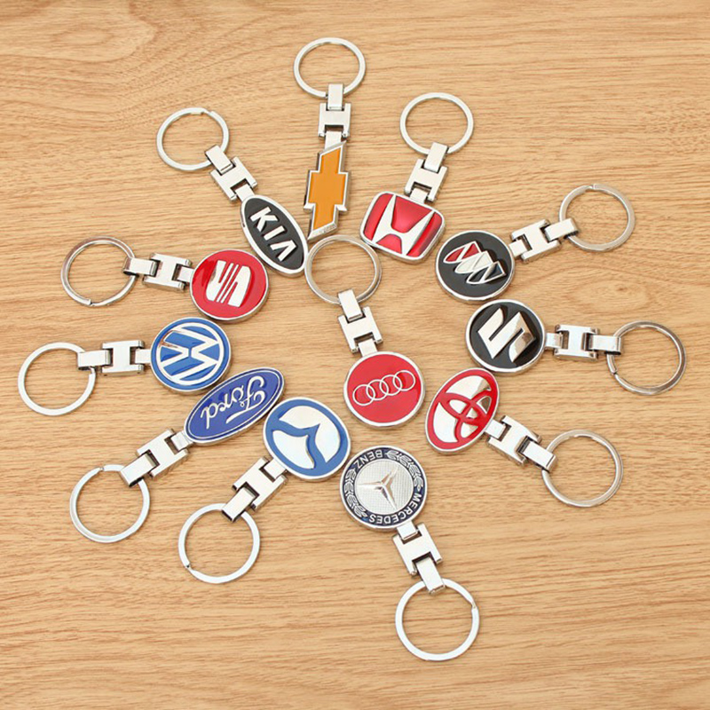 High Grade Car Styling Keychain Car Key Ring For Popular Automotive SUV Auto Key Ring Key Chain Keyfob Pendant Key Holder Gift