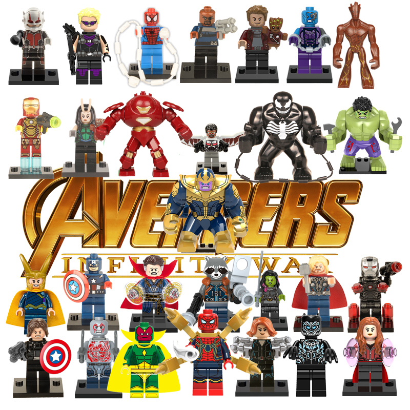LEGOED Marvel Building Block Super Heroes Hulk Avengers Endgame Thanos Iron Man Spiderman DIY Figure Bricks Antman Toys For Kids