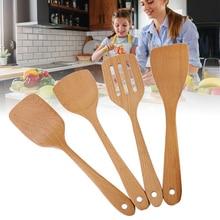 Kitchen-Tools Spoons Spatula Bamboo Wood Cooking Hot NOV99 Mixing
