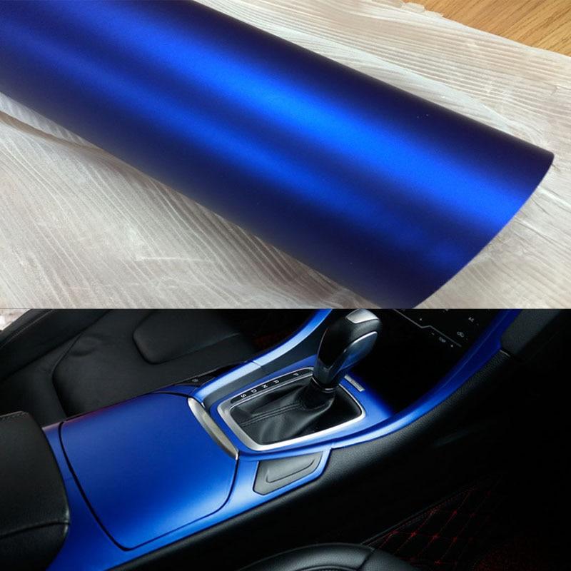 60cm/32cm*1m/2m/3m Blue Metallic Matt Vinyl Wrap Car Wrap Chrome Matte Vinyl Film Blue Matt Film Vehicle Wrapping Sticker Foil