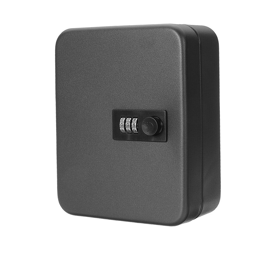 Password Car Storage Cabinet Indoor Outdoor Wall Mounted Organizer Resettable Code Combination Lock Office Metal Key Safe Box