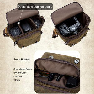Image 2 - Photo Video Camera Waterproof Canvas Shoulder Retro Vintage DSLR Bag Carrying Case for Canon Nikon Sony SLR Photography