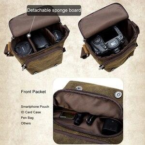 Image 2 - صور فيديو كاميرا مقاوم للماء قماش الكتف الرجعية Vintage DSLR حقيبة حمل لكانون نيكون سوني SLR التصوير