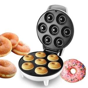 Для домашнего использования, пончик производитель машина вечерние жаропрочная посуда для десерта Электрический противень с антипригарным...