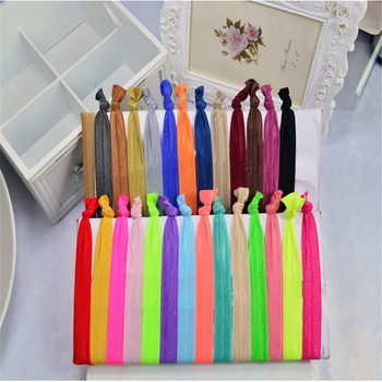 5pcs/set Korean Drama Style Long Elastic Cloth Hair Ties Bands Knotted Hairband Ponytail Holder Styling Ropes for Girl Women image