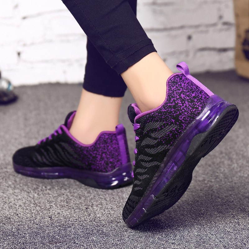 Fashion Women Lightweight Sneakers Shoes Outdoor Sports Shoes Breathable Mesh Comfort Shoes Air Cushion Lace Up  Zapatos Mujer
