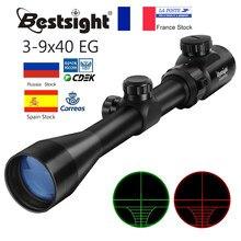 3-9x40 Optic Scope Rood Groen Rangefinder Verlichte Optische Sniper Rifle Scope Jacht Scopes Riflescope