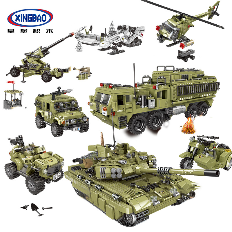 XingBao-06008-06015-Military-Series-World-War-2-Tank-Truck-Armored-Vehicles-Sets-Building-Blocks-MOC