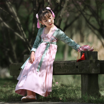 Kids Girls Dresses Summer 2020 Floral Baby Girl Dress Children Chinese Traditional Cheongsam Costume For Child Clothing