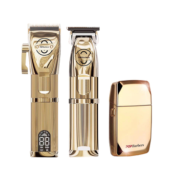 Professional Clippers Men Hair Trimmer Carving Cutting Golden Shaver Cordless Machine Electric Clipper Barber Shop Accessories 1