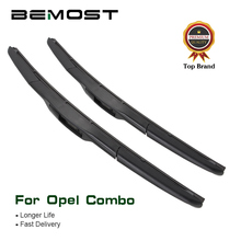 цена на BEMOST Car Windscreen Wiper Blades Natural Rubber For Opel Combo C/D Model Year From 2001 To 2016 Fit Push Button/U Hook Arms
