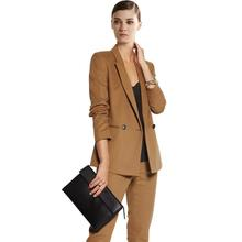 2020 Autumn Work Pant Suits Women Suits Notched Collar