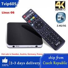 Original TVIP.605 4K Linux TV Box 8G S905X Quad Core TVIP S-Box V.605 HD Youtube 2.4G/5G WIFI Work on Android TV Box tvip525