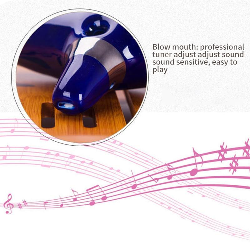 12 отверстий окарина керамический альт C окарина флейта Начинающий музыкальный инструмент синий Вдохновленный Zelda Легенда время музыкальный инструмент