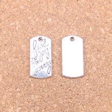 62pcs Charms find joy in journey 20x10mm Antique Pendants,Vintage Tibetan Silver Jewelry,DIY for bracelet necklace