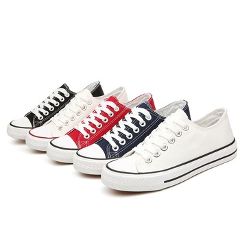 Lace-up Casual Shoes Breathable Canvas Lover Shoes 2020 Fashion Women Vulcanized Shoes Sneakers Ladies women canvas shoes lace up casual shoes woman flats white shoes white breathable vulcanized shoes ladies espadrilles