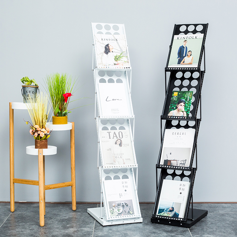 A4 folding data frame landing exhibition single page picture booklet advertising display rack