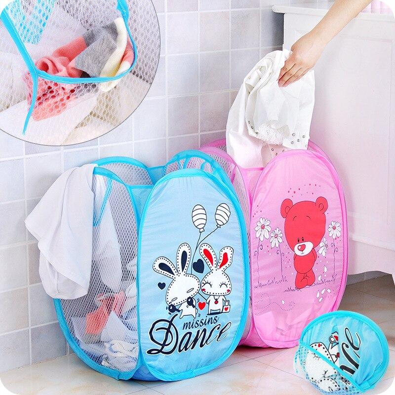 Foldable Home Laundry Basket Dirty Clothes Underwear Socks Storage Organizer Child Toy Storage Organization