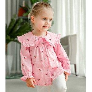 Image 4 - VFOCHI 2020 New Girls Blouse Kids Tops Ruffled Collar Girls Long Sleeve Shirt Children Wedding Clothing Baby Girl Top Tee Shirts