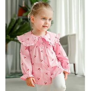Image 4 - VFOCHI 2020 สาวใหม่เสื้อเด็กเสื้อ Ruffled ปลอกคอหญิงเสื้อแขนยาวสำหรับเด็กเสื้อผ้าเด็กสาว TOP TEE เสื้อ