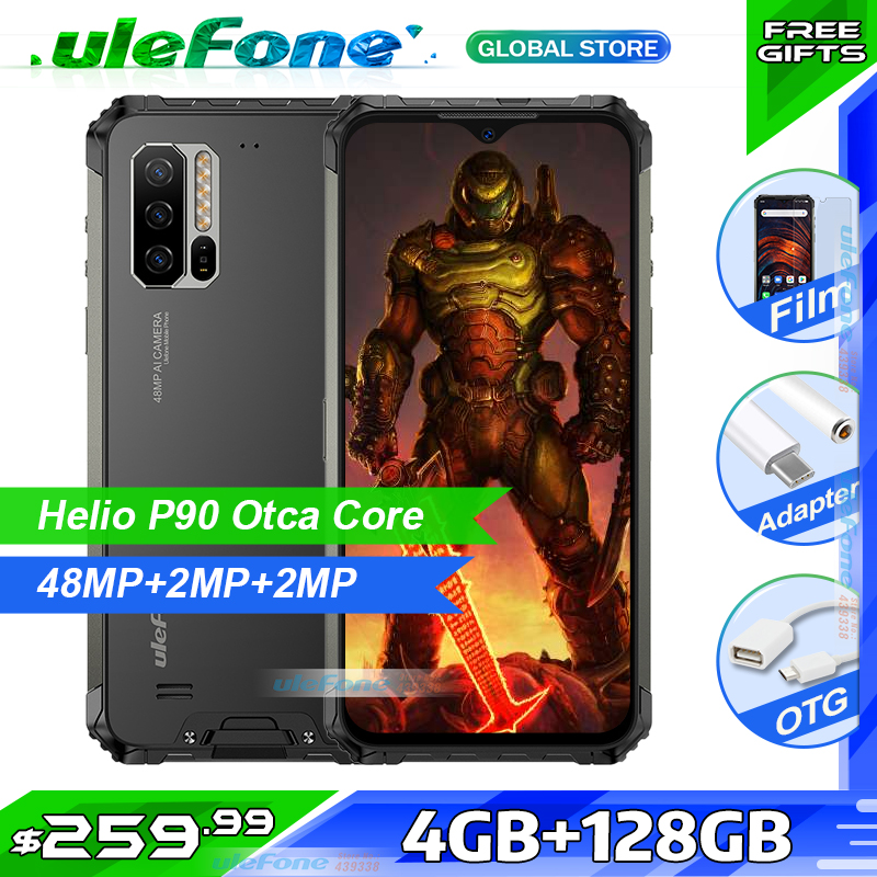 Ulefone Armor 7E IP68 Rugged Smartphone 4GB+128GB  Waterproof Mobile Phone Android 9.0 Octa Core NFC 48MP AI Camera Wireless|Cellphones|   - AliExpress