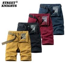 2021 New Summer Solid Color Fashion Cotton Casual Breeches Cargo Men Shorts Men Breathable Quick Dry Multi Pocket Hip Hop Short