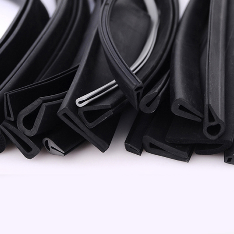 1 Meter U Channel Car Door Window Edge Guard Rubber Sealing Strip Weatherstrip Glass Edge Trim Shower Glass Door Seal Gaskets