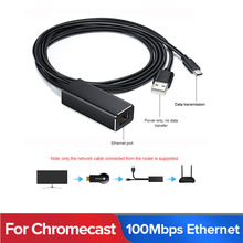 O micro usb audio da tevê do fogo chromecast ultra2/1 do cabo dos ethernet do adaptador da vara da tevê do fogo a rj45 100mbps com cabo da fonte de alimentação de usb