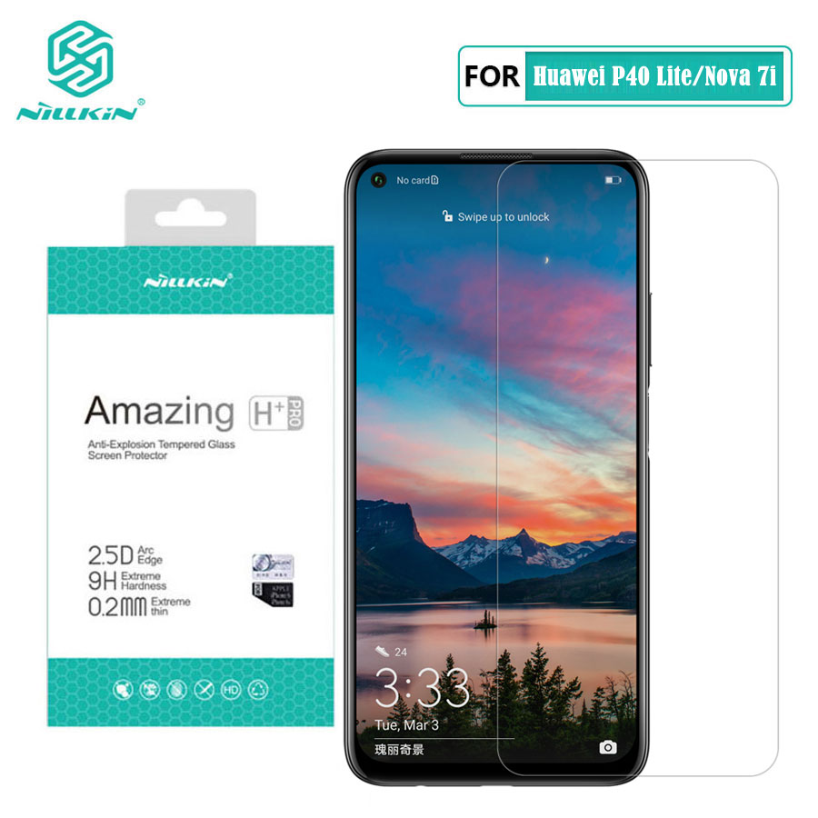 Huawei P40 Lite Glass Nillkin Amazing H+Pro 0.2MM Screen Protector Tempered Glass for Huawei Nova 7i 6 SE 6SE|Phone Screen Protectors| |  -