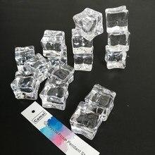 Искусственные искусственные акриловые квадратные кубики льда для фотографий размером 20x20 мм