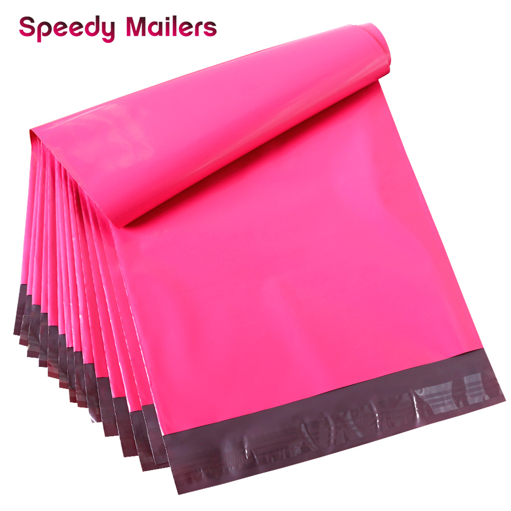 Speedy Mailers 10x13 Inch Poly Mailer Envelopes Rose Pink Poly Mailer Bags With Self Adhesive Self Sealing Plastic Packing Bags
