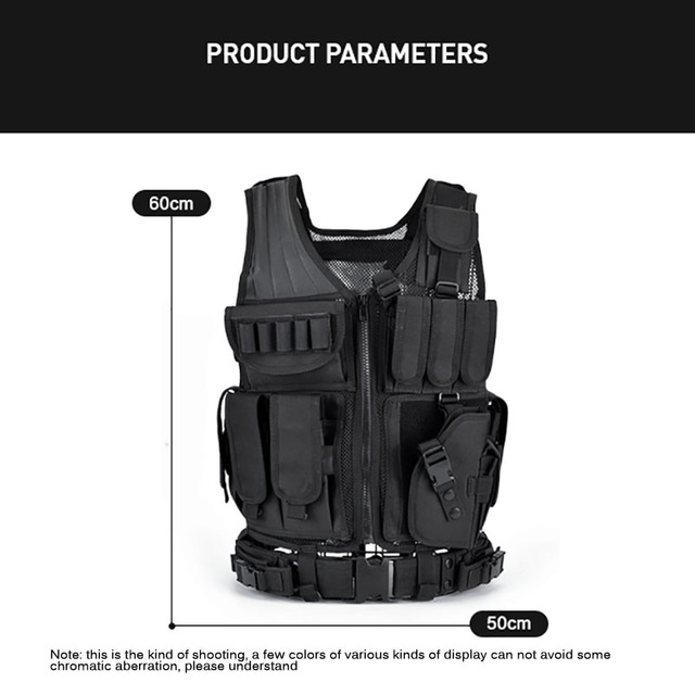 Multi-Pocket Hunting Clothes Swat Tactical Vest Swat Chest Rig SWAT Army Hunting Protective Vest Camping Shooting Accessories 5