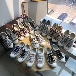 2020 novos sapatos femininos d letras bordadas sapatos de lona plataforma feminina lazer esportes sapatos brancos presbiopia sapatos