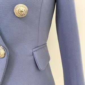 Image 4 - Blazer, nouveauté tendance, croisé, boutons lions, blouson de styliste pour femmes 2020