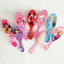Disney Frozen Sofia Princess Minnie Princess Hello Kitty Girl Combs Cute Massage Comb Mickey Little Pony Cartoon Comb Toys Gifts