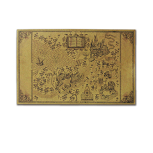 1 pc 51*32.5cm Cartoon Harriom  Cosplay Magic World Potter Map Retro Toy Anime Treasure Gift