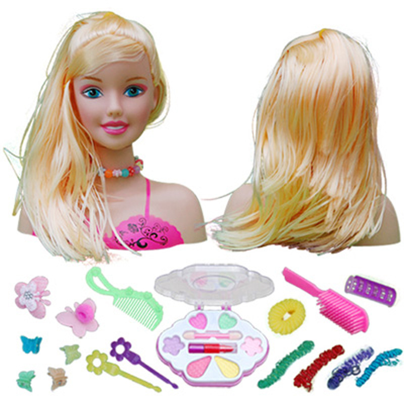 Kids Dolls Half Body Makeup Comb Hair Toy Doll Pretend Play Princess Set Play Toys Girls Makeup Training Girl Ideal Gifts